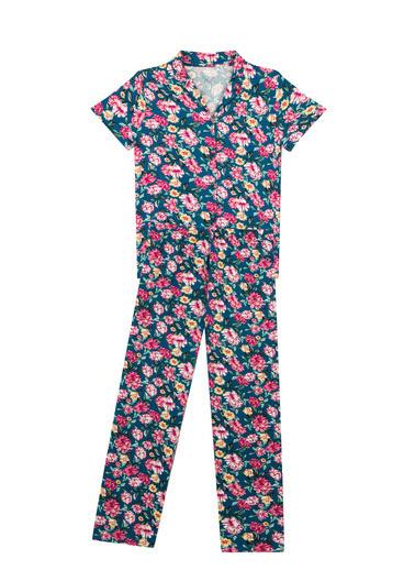 Penti Kadın Night Flowers Gömlek Pijama Takım PNQ84VO321IY Renkli